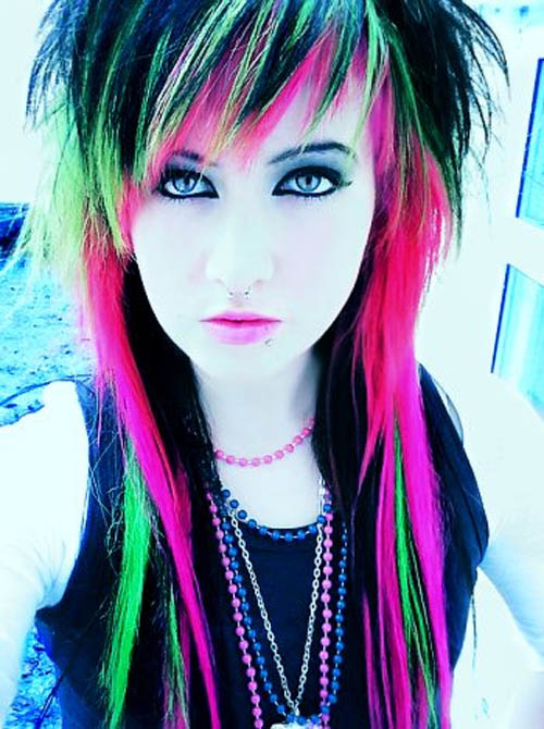 emo girl hairstyle. long blacklonde / Emo Hairstyles: emo girls hairstyles - Emo Bucket